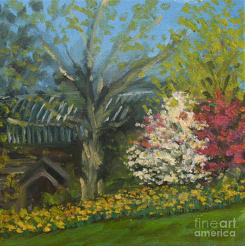 Central Park Spring Featuring Greywacke Arch by Jane Simonson