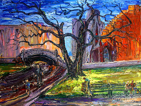 Central Park With Toddler by Arthur Robins