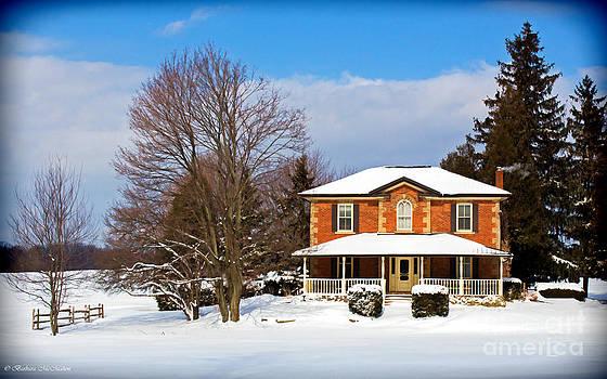 Barbara McMahon - Century Brick Home In Winter