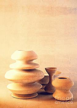Beverly Claire Kaiya - Ceramic Pottery Still Life I - Soft Vintage