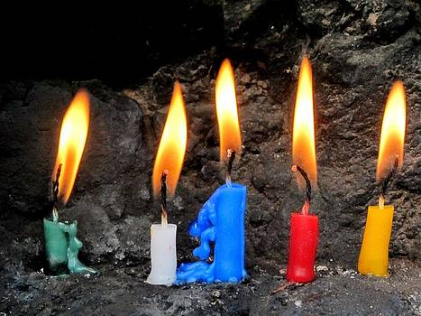 Ceremonial Candles by Lisa Lieberman