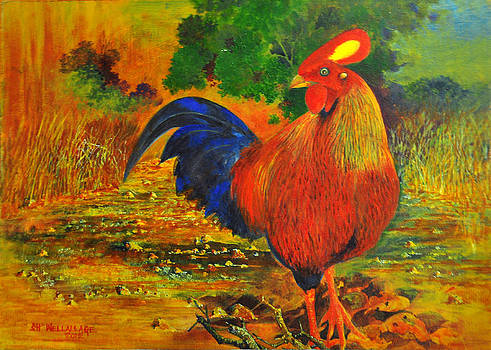 Ceylon Jungle Fowl by Samantha H Wellallage