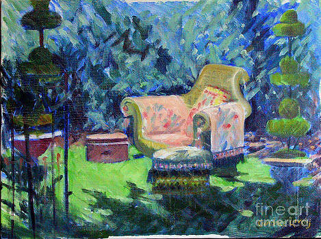 Candace Lovely - Chair in a Garden