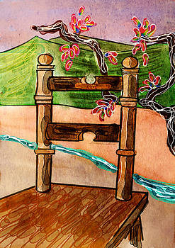 Chair in landscape by Brett Shand