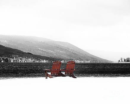 Chairs at Canandaigua Lake 2011 by Joseph Duba