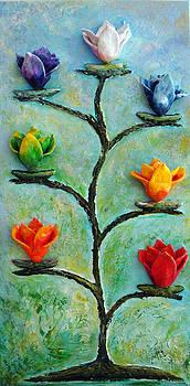 Chakras Tree by Raya Finkelson