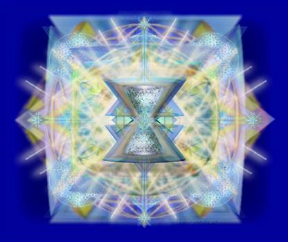 ChaliCell Matrix Rainbow Cross of Light by Christopher Pringer