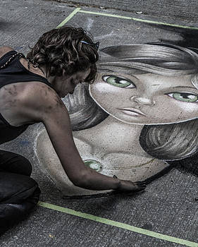 Chalk Chick by Milan Kalkan