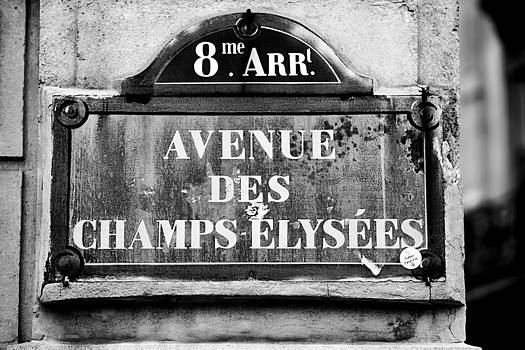 Art Block Collections - Champs-Elysees Sign