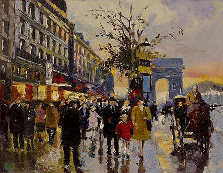 Champs Elysees Sunset by Andre Tutak