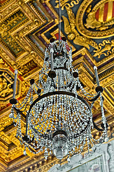 Chandelier at the St. Mary of the Altar of Heaven Basilica by Luis Alvarenga