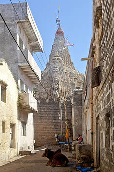 Kantilal Patel - Changing of the flag on Krishna Temple Dwarka