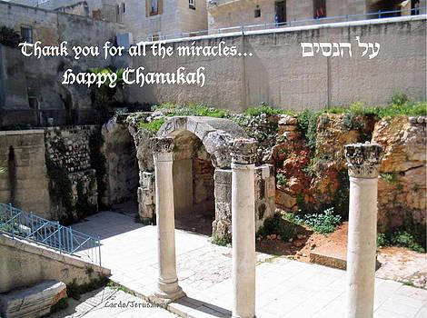 Chanukah Cardo Jerusalem by Linda Feinberg