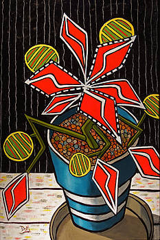 Chapala Poinsettia by Donald Bruce Wright