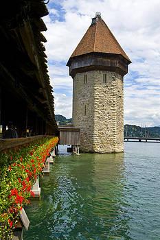 Pam  Elliott - Chapel Bridge and Water tower in Lucerne Switzerland
