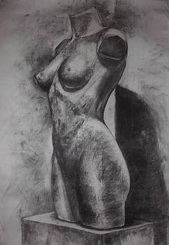 Charcoal Woman body  by Annamaria Shkurti