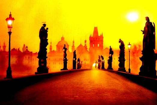 Charles Bridge in Prague by The Creative Minds Art and Photography