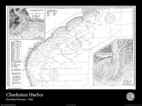Charleston Harbor - 1862 by Adelaide Images