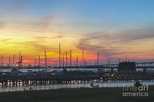 Dale Powell - Charleston Harbor Sunset