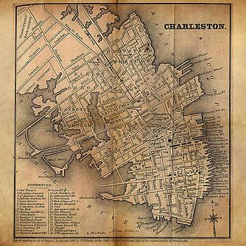 James Christopher Hill - Charleston Vintage Map No. I