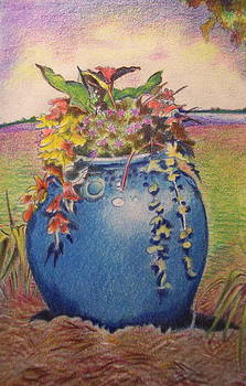 Charlestown gardens - vase by Daniela Johnson