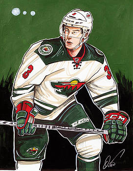 Charlie Coyle of the Minnesota Wild by Dave Olsen