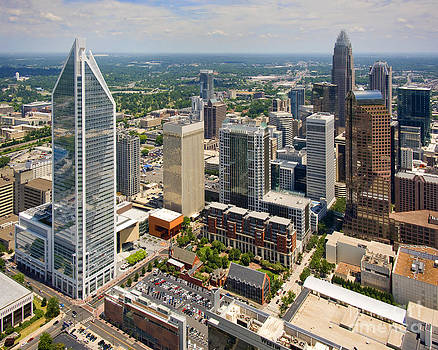Charlotte NC in Contrast by Clear Sky Images