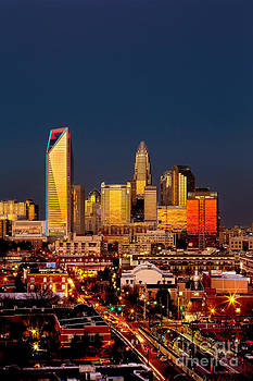 Charlotte NC skyline photo with downtown Charlotte by Patrick Schneider