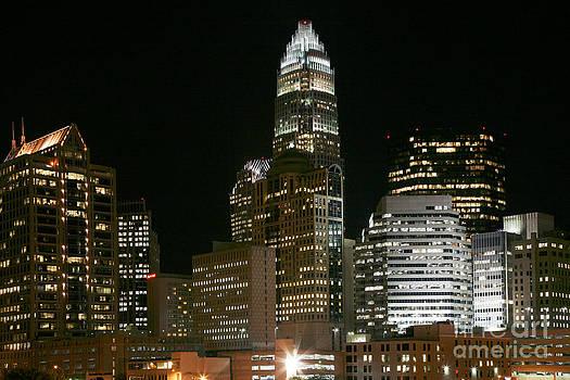 Bill Cobb - Charlotte skyline at night