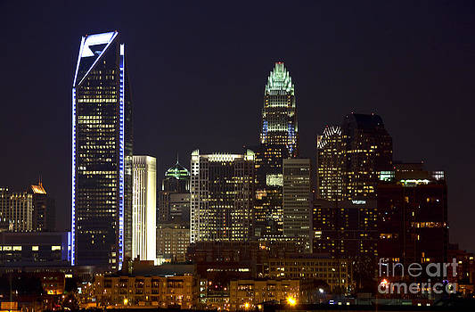 Jill Lang - Charlotte Skyline at Night