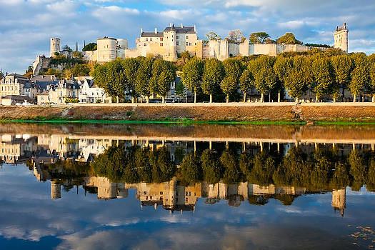 Chateau Above and Below Chinon  by Kirk Strickland
