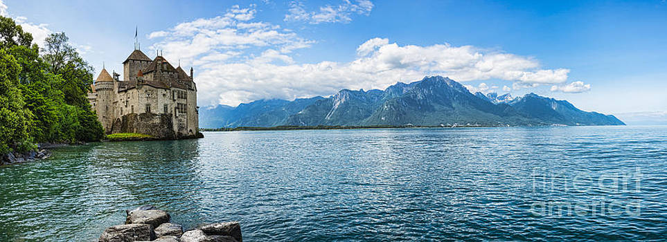 Oscar Gutierrez - Chateau Chillon on the shore of Lake Geneva near Montreux Switz
