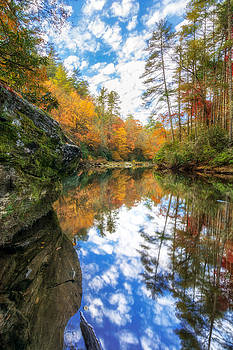 Chattooga River Autumn Reflection by Dustin Ahrens