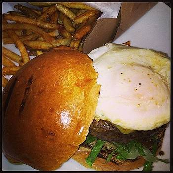Cheeseburger With Fried Egg by Mike Piotrowski