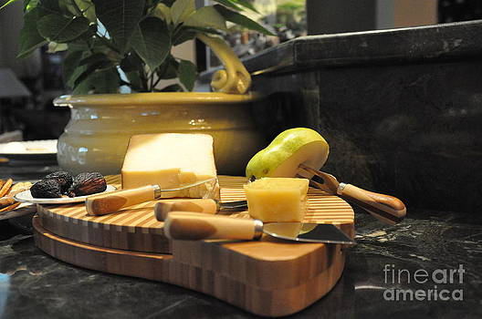 Cheeses And Fruit by Tanya  Searcy