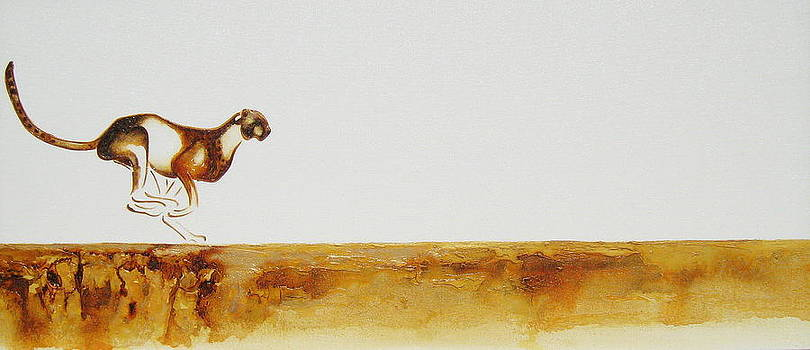 Cheetah Race - Original Artwork by Tracey Armstrong