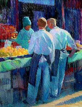 Chefs at the market by Jackie Simmonds