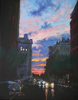 Chelsea - Sunset after a Storm by Peter Salwen