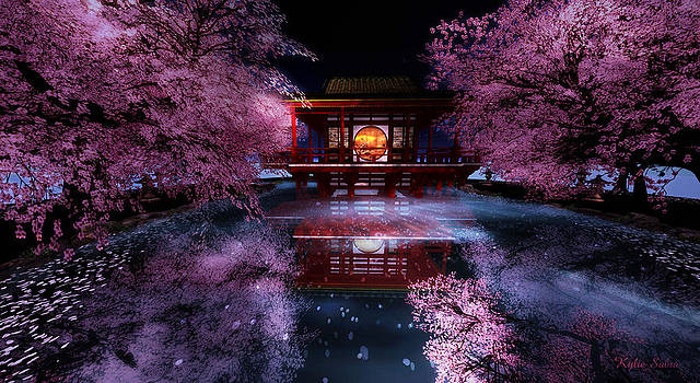 Cherry Blossom Tea House by Kylie Sabra
