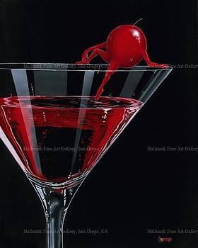 Cherry Cosmo Martini by Michael Godard