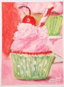 Cherry Limeade Cupcake by Cristel Mol-Dellepoort