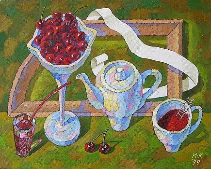 Cherry still life by Igor Kir