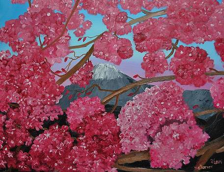 Cherry Tree in Bloom by Donald Schrier