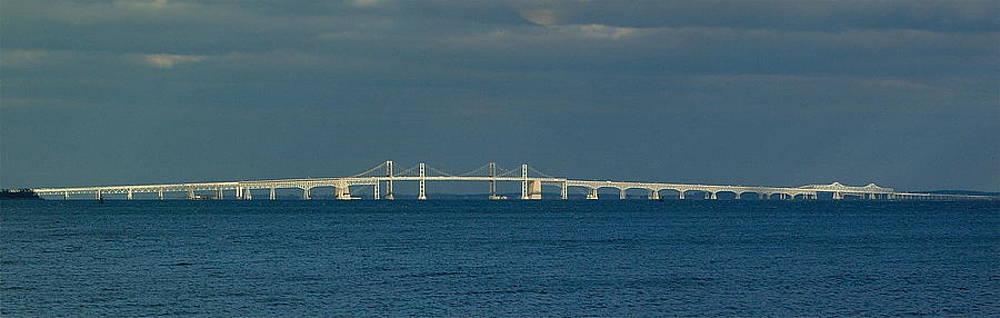 Chesapeake Bay Bridge Aglow by Paul Pobiak