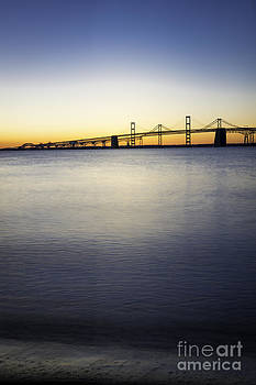 Chesapeake Bay Bridge Just Before Sunrise Vertical by Brycia James