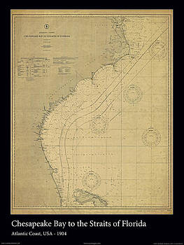 Chesapeake Bay to Florida Straits by Adelaide Images
