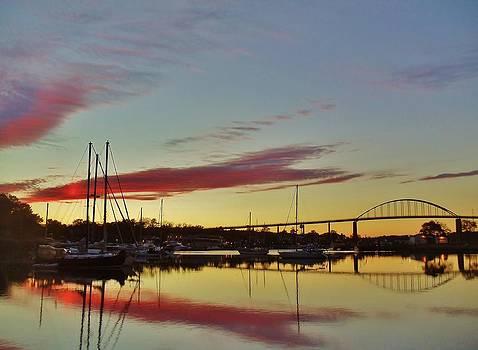 Chesapeake City Sunset by Ed Sweeney
