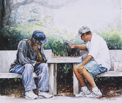 Chess Players by Sharon Sorrels