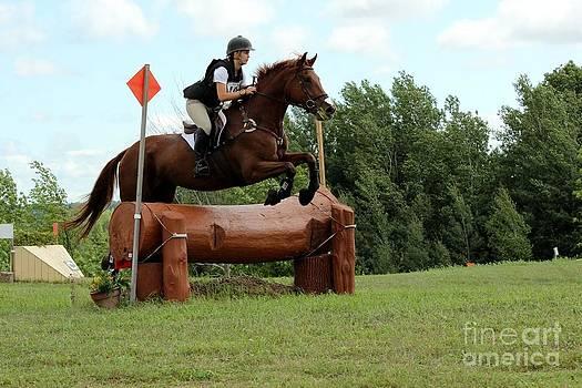 Janice Byer - Chestnut Over Log Jump