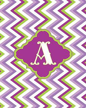 Chevron Monogram by Allison Marie
